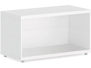 Konfigurierbare Regalwürfel Bücherwand CASE Maxi-1x1 | 75x41x34 cm | weiß