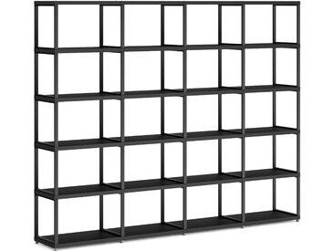 Konfigurierbares Raumteiler Regalsystem MAXX M-4x5   231x183x33 cm   schwarz
