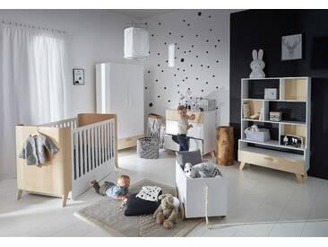 Babyzimmer komplett Set 5-teilig Kinderzimmer weiß Skandy