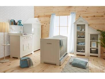 Babyzimmer komplett 4-teilig Häuschen Holz weiß LaVie