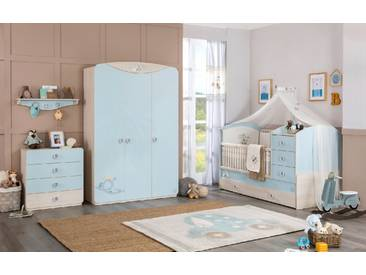 Babyzimmer mitwachsend 4-teilig mit Gästebett Baby Boy
