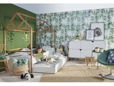 Kinderzimmer komplett Set 2-teilig weiß Eichenholz Marta