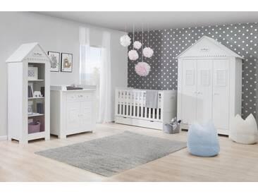 Babyzimmer komplett 4-teilig Häuschen umbaubares Bett LaVie
