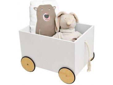 Spielzeugkiste mit Rollen Aufbewahrung Spielzeugwagen Marta
