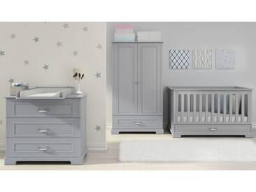 Babyzimmer komplett 4-teilig Kinderzimmer Grau Ida Grey
