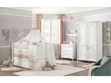 Babyzimmer mitwachsend 4-teilig mit Gästebett Romantic