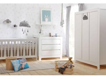 Babyzimmer komplett Set 3-teilig Bett umbaubar Lemontree
