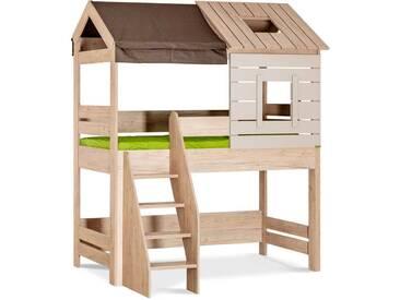 Hochbett Kinder Foresters Hut - 90x190 mit Treppe