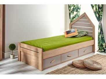 Kinderbett 90x200 Foresters Hut mit Schubladen