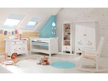 Babyzimmer komplett Set weiß 5-teilig Pferdchen Fantasia
