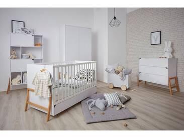 Babyzimmer komplett 5-teilig Kinderzimmer Jugendzimmer Eichenholz Marta