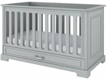 Babybett 70x140 Gitterbett Bett umbaubar Grau Ida Grey