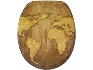 WC-Sitz mit Absenkautomatik World Map