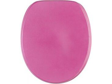 WC-Sitz mit Absenkautomatik Glitzer Pink