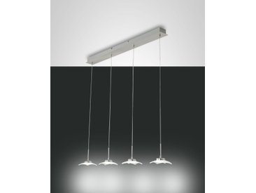 LED Hängelampe nickel-matt Fabas Luce Desus 2900lm 900mm 4-flg dimmbar