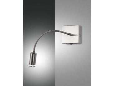 LED Wandleseleuchte nickel-matt Fabas Luce Portici 270lm mit Schalter