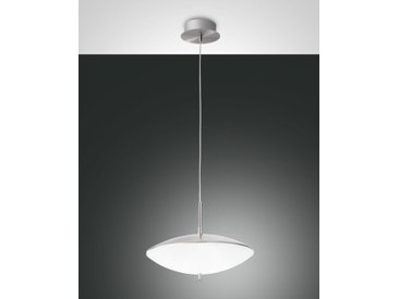 LED Hängelampe nickel satin Fabas Luce Spiny 400mm 1620lm Touchdimmer