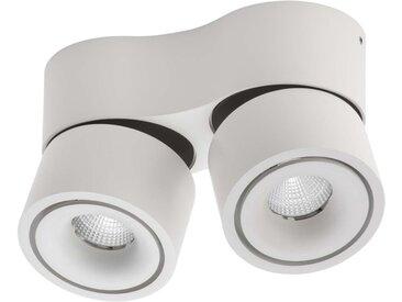 Lumexx Mini Double LED Aufbauleuchte weiß/schwarz 2x7W, 2x550lm, 2700k