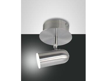 LED Wandstrahler nickel satin Fabas Luce Spotty 450lm 1-flg.