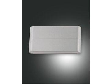 up down LED Wandaußenleuchte silber Fabas Luce Casper 1300lm IP54