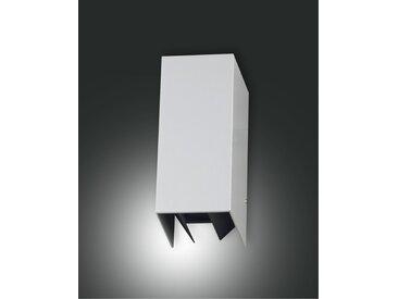 moderne LED Wandaußenleuchte silber Fabas Luce Zor 320lm 3000K IP54