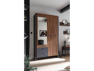 Kleiderschrank Dielenschrank Industrial Style 2-Türig Stirling Oak/ Matera Woody 16-00816 Imv Detroit Eiche Holz Modern