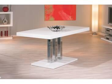 Esstisch Weiss Hochglanz Lackiert Woody 148-00277 Inter Link Palazzo Weiß Metall Modern