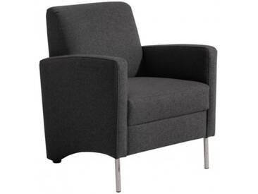 Mossano Sessel Loungesessel schwarz B 65 cm / T 78 cm / H 83 cm
