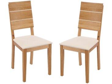 """Stuhlset """"Max"""" montiert Wildeiche creme"""