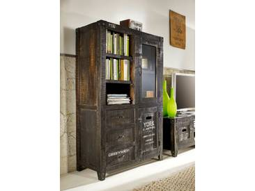 Highboard schmal Westside Mango massiv