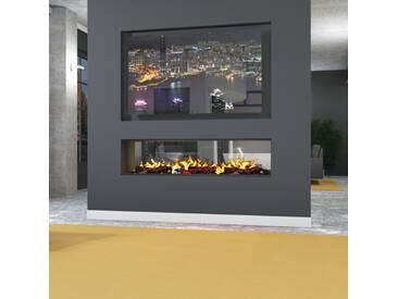 muenkel design tunnel fire electronic PRO [Opti-myst Elektrokamineinsatz]: 600 mm - ohne Holzimitat - Mit Glasscheibe (einseitig) - 2.000 Watt Heizleistung
