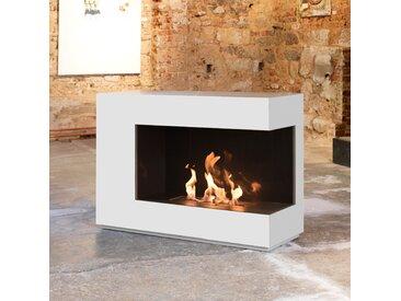 muenkel design loft.line -- C-01 [Design Ethanol Kamin]: Reinweiß (warm) - safetybox 3.0