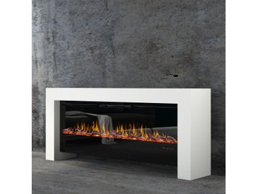 muenkel design bridge [moderner Optiflame Design Elektrokamin]: Reinweiß (warm) - 2100 mm