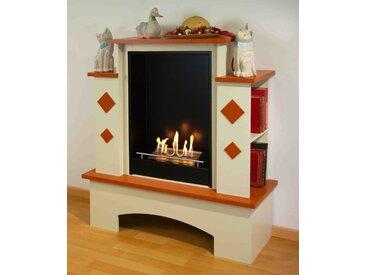 bergamo Toscana [Ethanol Kamin Landhausstil]: Terracotta Deckplatten u. Applikationen