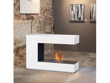 muenkel design loft.line -- C-02 [Design Raumteiler Ethanol Kamin]: Reinweiß (warm) - safetybox 3.0