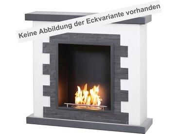 muenkel design Livanto [Ethanol Eckkamin Landhausstil mit schwarzem Schiefer verkleidet]