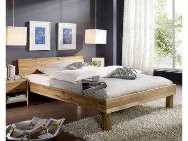 3S Frankenmöbel Massivholz Bett Campino 120x200 cm / Kopfteil geschlossen / Wildeiche geölt