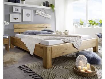 3S Frankenmöbel Massivholz Bett Baumkante 180x200 cm / Wildeiche geölt