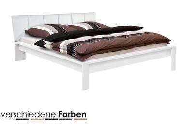 ArteM Bett Trends mit Polsterkopfteil 180x200 cm Schwarz / Kunstleder Weiss