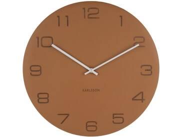 Present Time Wanduhr Vigorous Braun