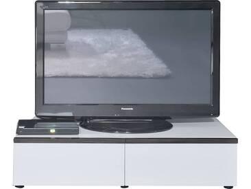 ArteM linea w TV-Element mit Schubkasten Eiche dunkel / Weiss HG / Eiche dunkel