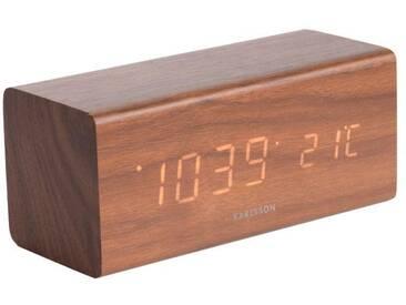 Present Time Tischuhr Block Schwarz