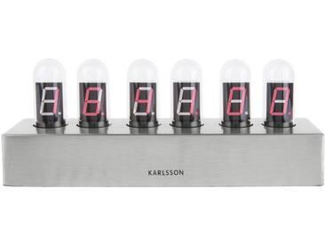 Present Time Tischuhr Cathode Stahlgestell