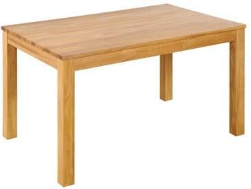 3S Frankenmöbel Massivholz Esstisch Diez 80x80 cm / Wildeiche geölt / mit Funktion 2 Ansteckplatten á 40x80 cm