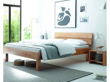 Hasena Wood-Line Massivholzbett Cantu/Duo 100x200 cm Buche weiss 25 cm