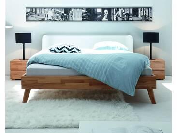 Hasena Wood-Line Massivholzbett Classic Leno/Boga 100x200 cm / Buche walnuss