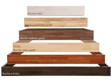 Hasena Wood-Line Bettrahmen Classic 16 Massivholz 180x220 cm Buche kirschbaumfarbig