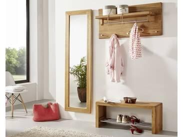 3S Frankenmöbel Massivholz Garderobenspiegel Corner Wildeiche hell geölt / 50 x 175 x 35 cm