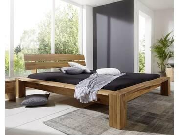 3S Frankenmöbel Massivholzbett Baumkante Wildeiche 180x200 cm