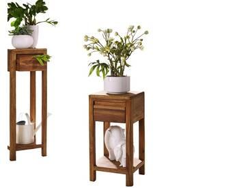 3S Frankenmöbel Massivholz Blumensäule New York Hoch / B 30 x H 90 x T 30 cm